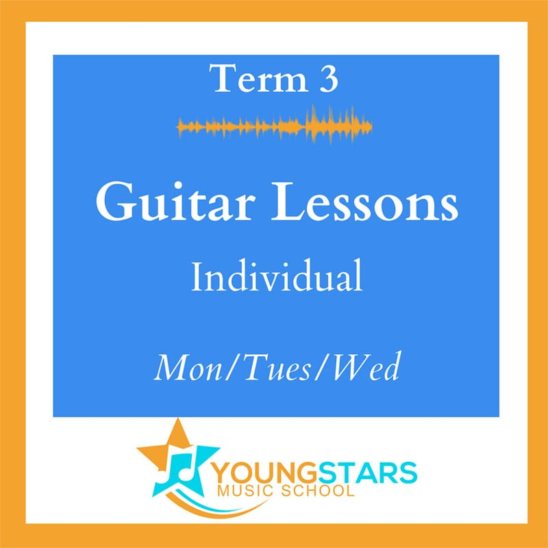 Guitar lessons individual Mon/Tues/Wed