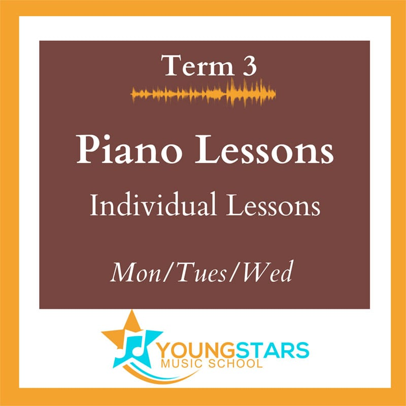 piano lessons individual Mon/Tues/Wed