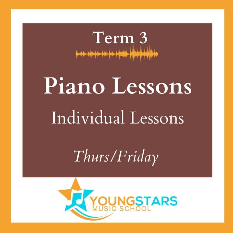individual piano lessons Thurs/Fri