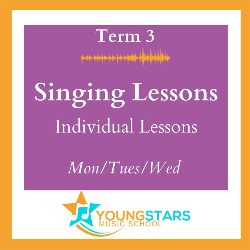 Singing lessons individual Mon/Tues/Wed